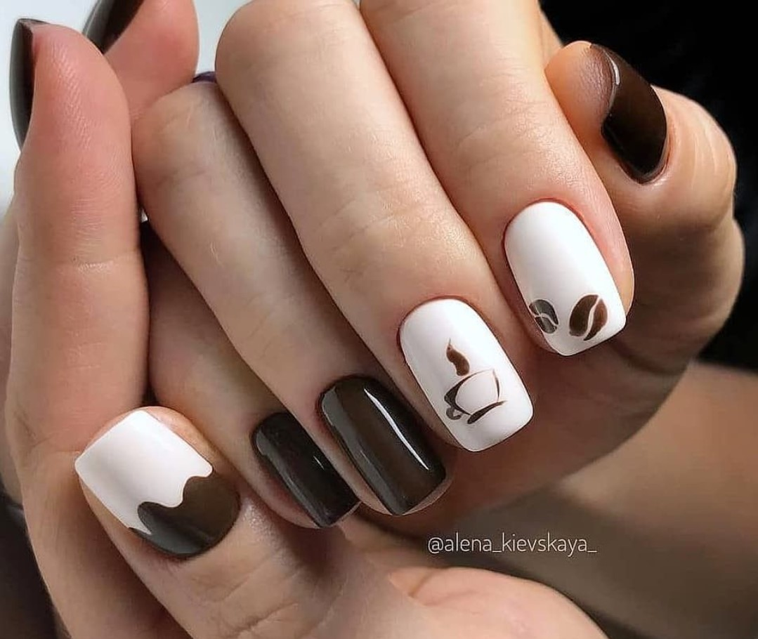 brown-manicure:-stylish-ideas-and-a-combination-of-shades
