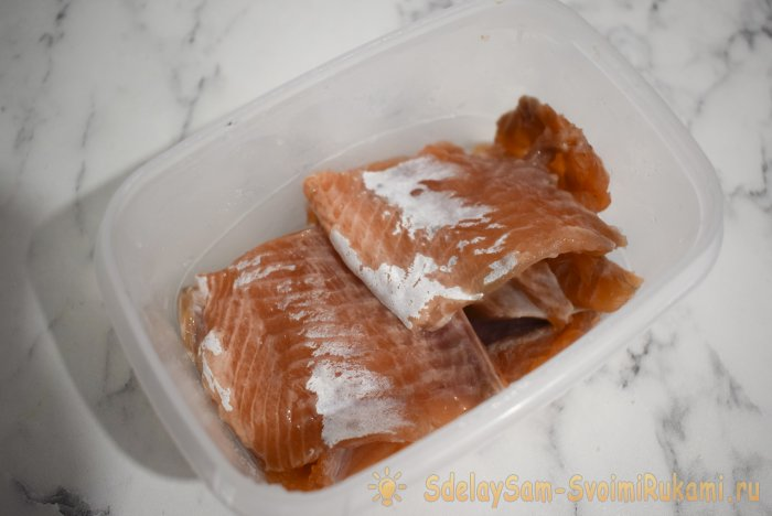 An elementary way to deliciously salt the trout yourself without store preservatives