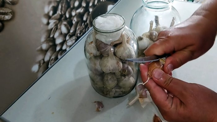 After a year of storage, garlic as fresh is the best way to preserve the harvest