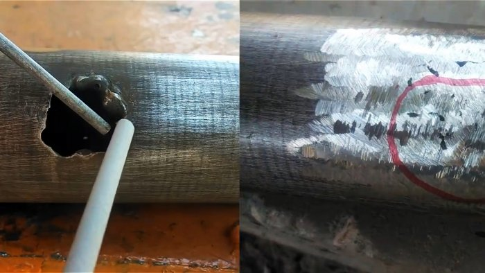 How to fill a large weld bead