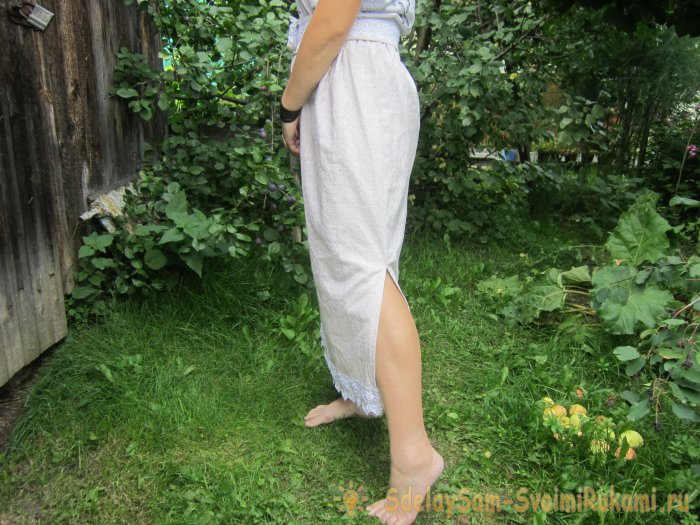 How to sew a skirt with your own hands in half an hour without sewing equipment