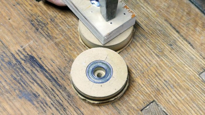 How to make rollers for a belt sander without turning