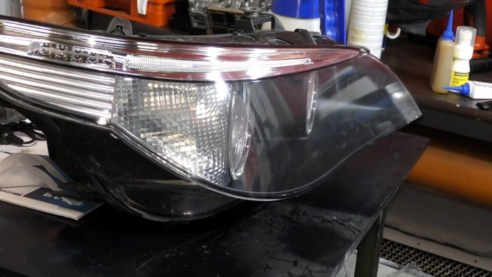 Chemical polishing of headlights is available to everyone Everything is elementary, just show