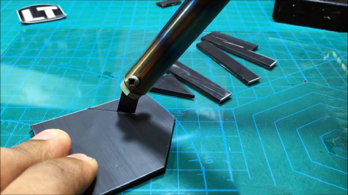 How to make a knife from a soldering iron for cutting acrylic plexiglass PVC plastic and foam