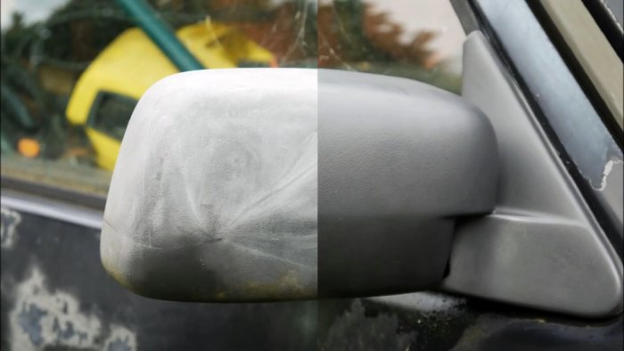 How to quickly and for free restore faded plastic car parts