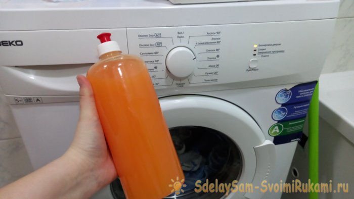 Lifehack washing with laundry liquid soap is an excellent alternative to washing powders