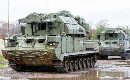 In the photo: Tor-M2 anti-aircraft missile systems