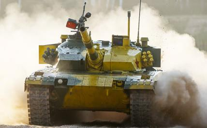 In the photo: the tank of the Land Forces of the People's Liberation Army of China