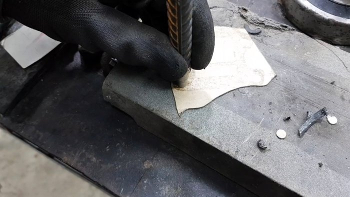 How to make a punch hole punch for gaskets