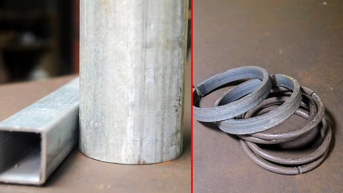 How to make a manual ring bending machine from a pipe and a profile