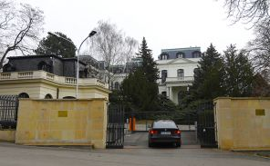 In the photo: the building of the Russian Embassy in Prague