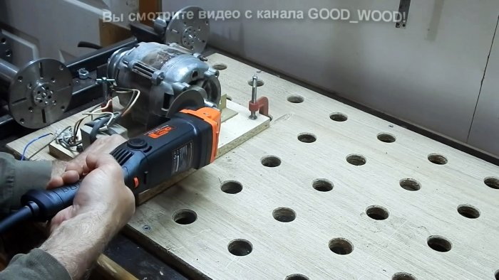 How to lengthen a short shaft of an electric motor without welding and turners