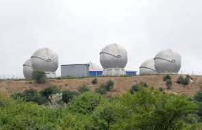 """In the photo: not far from the Tajik city of Nurek, high in the mountains, there is a top secret optical-electronic space tracking object """"Window"""", owned by the Russian Aerospace Forces"""