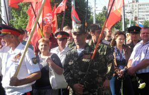 In the photo: Transnistria are ready to defend their independence from Chisinau with arms in hand, as they did thirty years ago