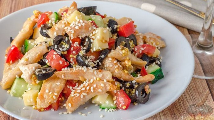 How to make chicken and sesame salad