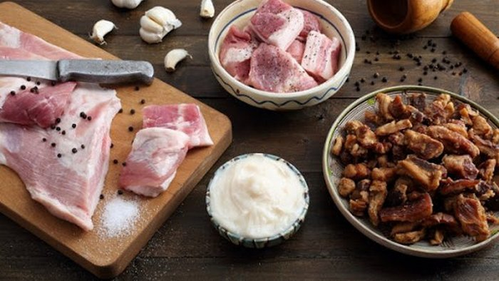 Instructions for making puff pastry pork