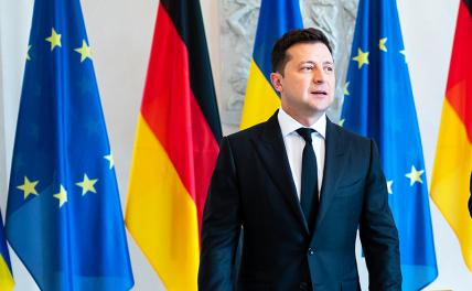 In the photo: during the visit of the President of Ukraine Volodymyr Zelensky to Berlin