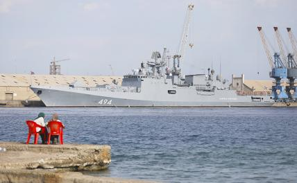 """In the photo: the frigate of the Russian Navy """"Admiral Grigorovich"""" in Port Sudan"""