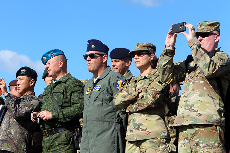 In the photo: during the Ukrainian-American command post exercise Rapid Trident-2017 on the territory of the International Center for Peacekeeping and Security of the National Academy of Ground Forces named after Hetman Pyotr Sagaidachny.