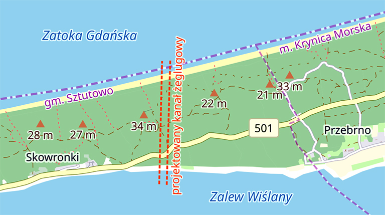 In the photo: the route of the canal.
