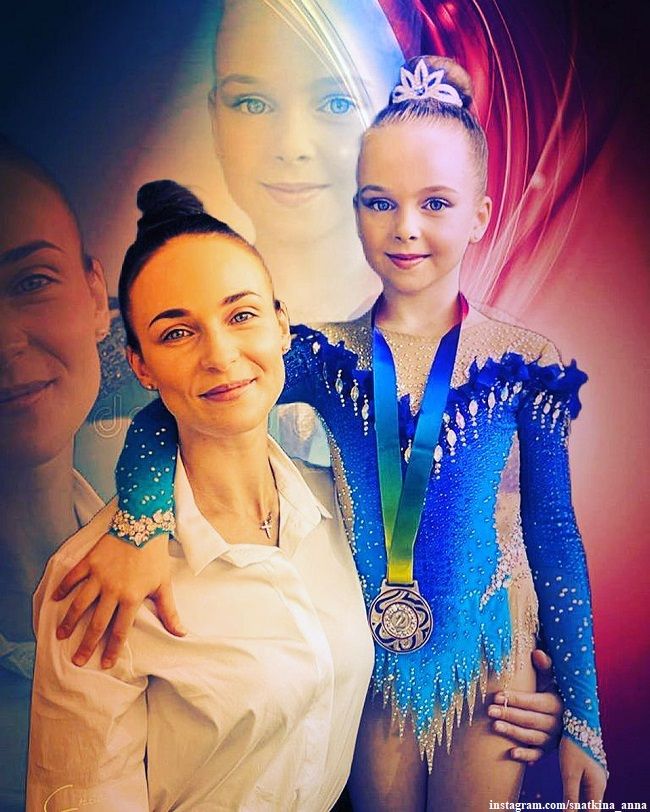 Anna Snatkina with her daughter Veronica