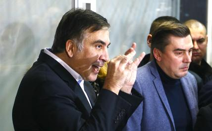 In the photo: the former governor of the Odessa region and leader of the New Forces Movement party Mikhail Saakashvili.