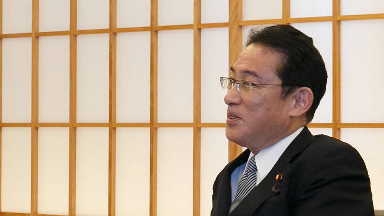Kishida announced the extension of Japanese sovereignty to the southern part of the Kuriles