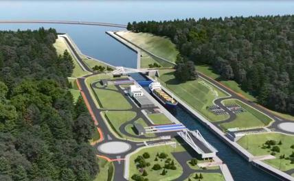 In the photo: a plan for the construction of a canal across the Baltic Spit.