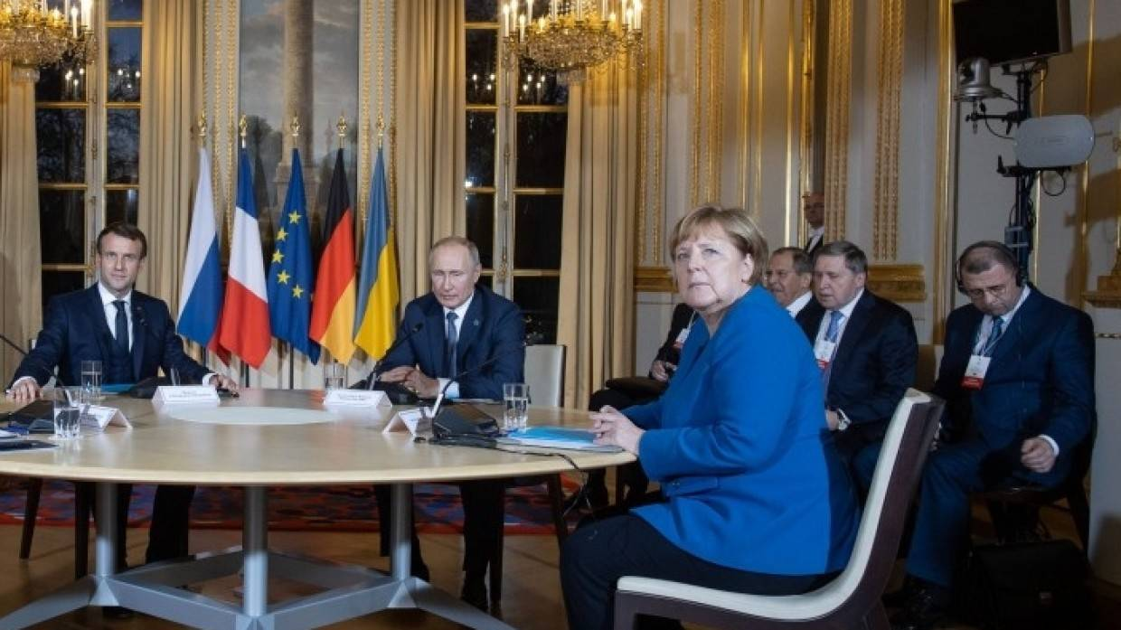 Putin, Merkel and Macron talked about the situation in the east of Ukraine