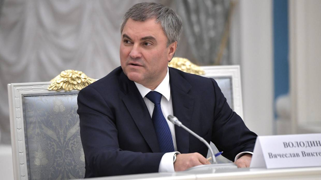 Volodin urged to strengthen coronavirus restrictions in the State Duma
